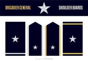 Free Shipping Brigadier General Uniform Epaulets vecteur