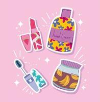 conception de produits de maquillage et de beauté vecteur