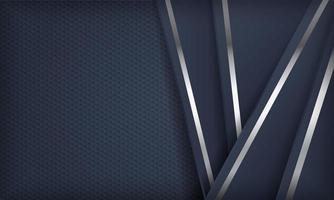 formes superposées bleu marine réalistes avec bordures argentées