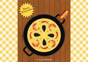 Illustration vectorielle Paella gratuite vecteur