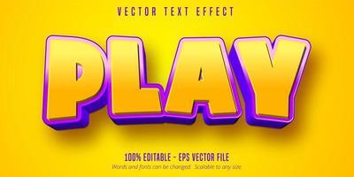 effet de texte de jeu violet jaune