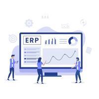 concept de planification des ressources d'entreprise ERP vecteur