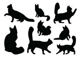Vecteurs de silhouette de chat vecteur