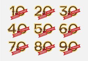 Vecteurs de symboles d'anniversaire