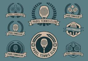 Logos du club Padel vecteur