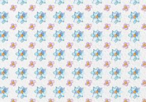 Forme de fleurs d'aquarelle de printemps à motif vectoriel gratuit