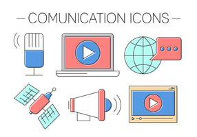 Icônes de communication gratuite vecteur