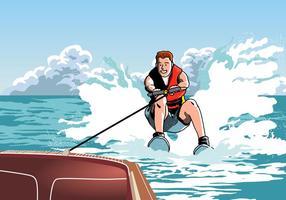 Homme sur le ski nautique