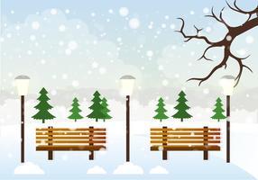 Illustration vectorielle libre de paysage d'hiver de vecteur