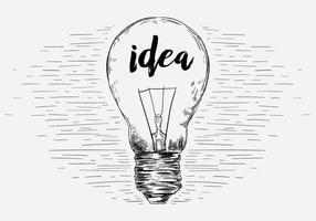 Illustration d'ampoule à vecteur libre