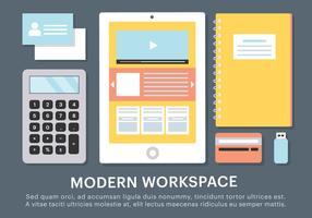 Éléments vectoriels d'espace de travail Business Free vecteur