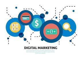 Éléments vectoriels de marketing de médias sociaux gratuits
