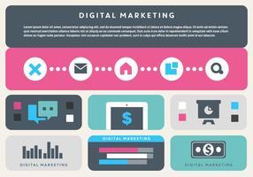 Éléments vectoriels d'affaires gratuits pour le marketing numérique