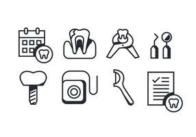 Pack vectoriel d'icônes de dentiste