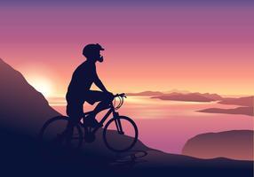 Vecteur de sentier de vélo de nature sauvage