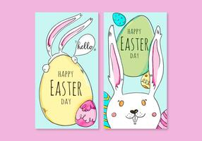Day Card vecteurs de Pâques vecteur
