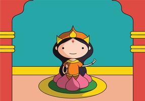 Hindou goddes lakshmi vecteur