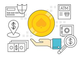 Simples icônes financiers vecteur