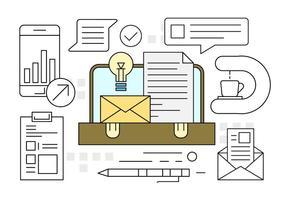 Bureau gratuit Porte-documents Icônes vecteur