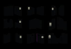 Ouvrir icônes Porte Vector