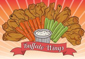 Buffalo Wings avec la sauce vecteur