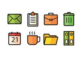 Bureau Icon Pack vecteur