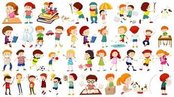 ensemble de personnage de dessin animé pour enfants