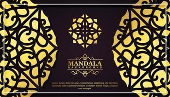 carte de mandala de luxe