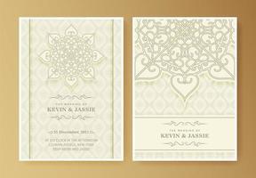 carte d'invitation de mariage élégant mandala