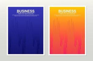 ensemble d'affiche vague minimaliste