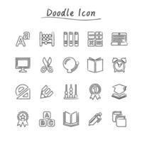 icônes d'éducation doodle