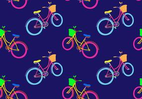 Patron Gratuit Bicicleta Seamless Vector Illustration