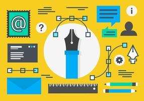 Flat gratuit Marketing Digital Concept Vecteur