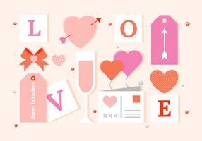 Day Elements Et Icônes de vecteur libre Valentine