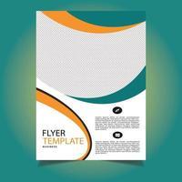 modèle de flyer corporatif orange et vert pour le bureau