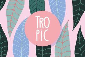 bannière de feuillage tropical coloré