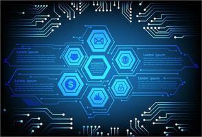 hexagone hud internet des objets cyber technologie concept vecteur