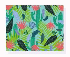 feuilles tropicales et fond de feuillage