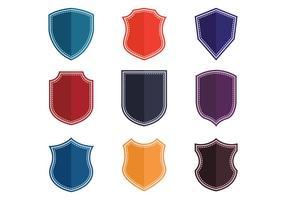 Blason icônes vectorielles vecteur