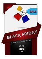 modèle de bannière de vente verticale vendredi noir