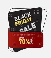 vendredi noir vente bannières de forme géométrique