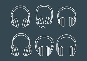 Head Phone Icons Vecteur libre