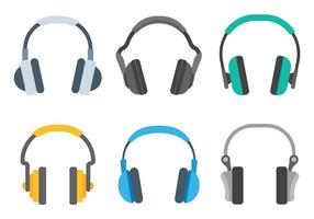 Head Phone Icons Vecteur libre