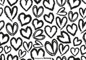 Vector Seamless Avec Coeurs dessinés à la main