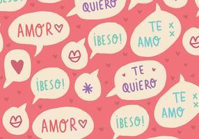 Vecteurs de mots doux amour