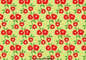 Motif Red Camellia Flowers Seamless vecteur