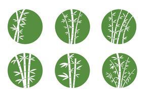 Bamboo Icônes vecteur libre