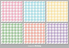 Vector Houndstooth Colorful Seamless Patterns Set