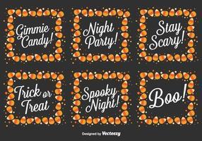 Vector ensemble de messages d'Halloween