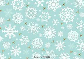 Minimal Motif Snowflakes Vector